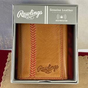 Vintage Rawlings Vintage Tri Fold Leather Wallet
